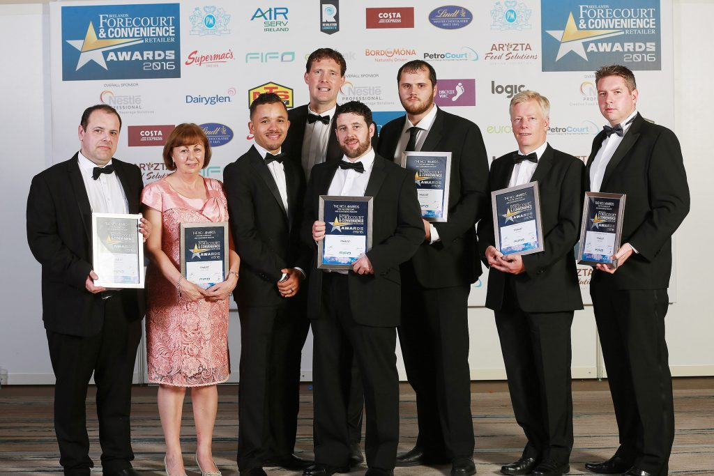The finalists in this category are pictured. Ther were Patrick O'Hanlon, Fitzpatrick's Spar Express, Co. Kildare' Carmel Clarke, Hillside Stores, Applegreen, Kells; Colm O'Neill, Solv-x; Craig Walbert, FIFO; Thomas Kane, Buckley's Centra, Mullingar; Ashley Folder, Applegreen Lemybrien; Pat O'Neill, N4 service station, Co. Westmeath and James Carey, Applegreen M4 Enfield West