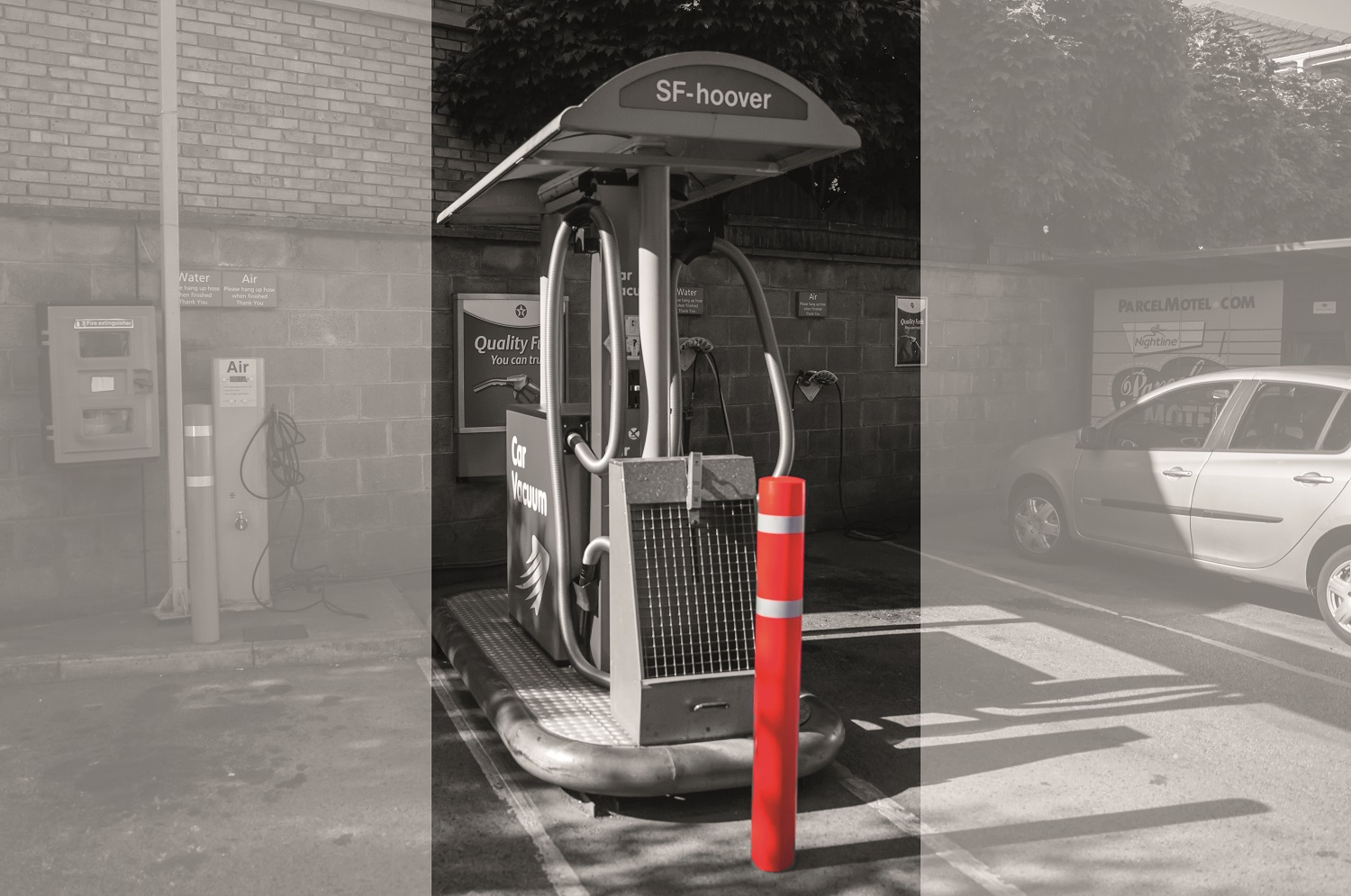 Addgards Wet Wipe Dispensers and Bollard Sleeves for forecourts