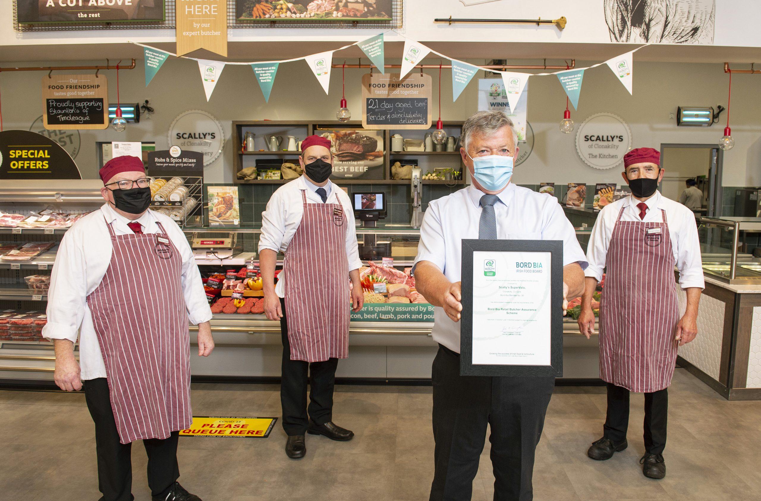 Scally's SuperValu Clonakilty Achieves Prestigious Bord Bia Butcher Accreditation